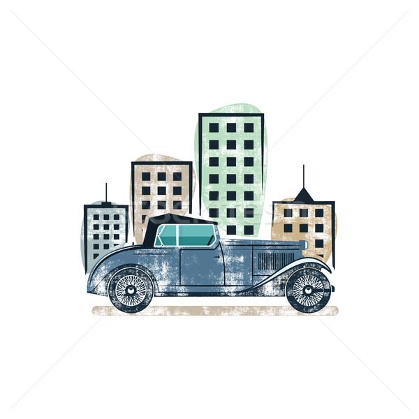 Oldtimer show label ontwerp klassiek auto Stockfoto © JeksonGraphics