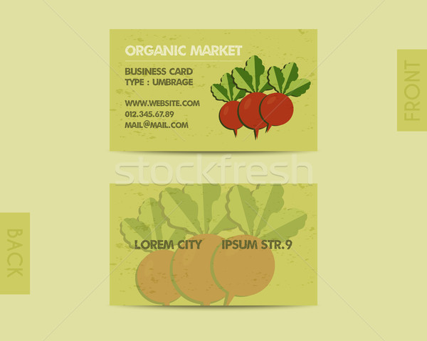 Summer Farm Fresh branding identity elements. Business card template. Organic stylish design. Mock u Stock photo © JeksonGraphics