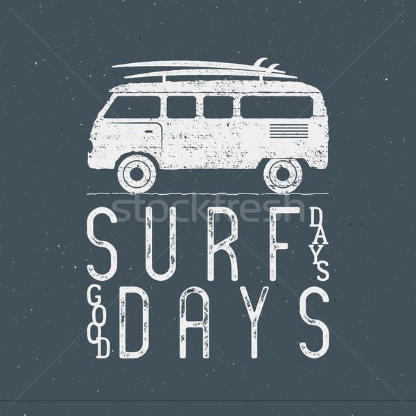 Vintage surf grafica poster web design stampa Foto d'archivio © JeksonGraphics
