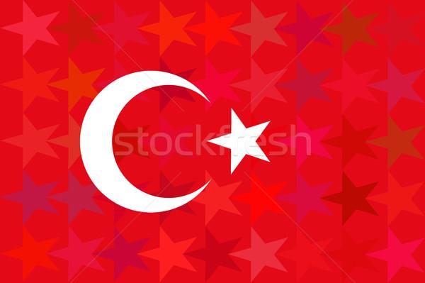 Turchia bandiera insolito rosso stelle originale Foto d'archivio © JeksonGraphics
