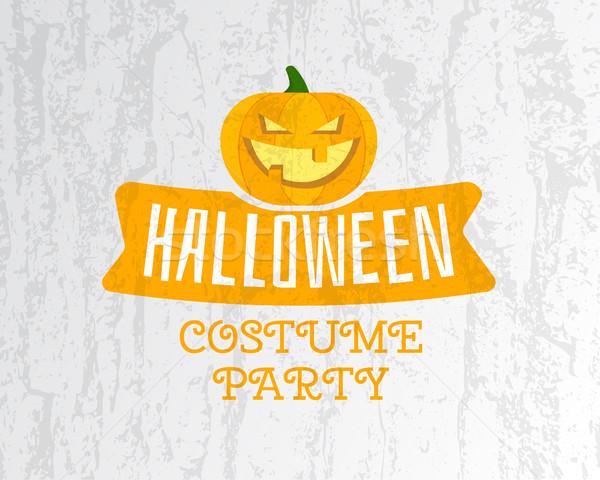 счастливым Хэллоуин костюм вечеринка Flyer шаблон Сток-фото © JeksonGraphics
