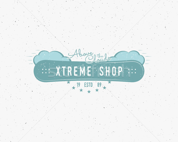 Snowboarding extreme shop logo, label templates Winter snowboard sport store badge. Emblem and icon. Stock photo © JeksonGraphics