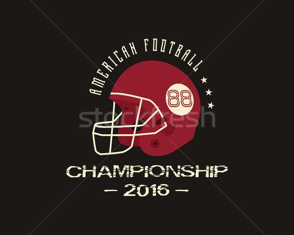 Foto stock: Americano · futebol · universidade · campeonato · distintivo · logotipo