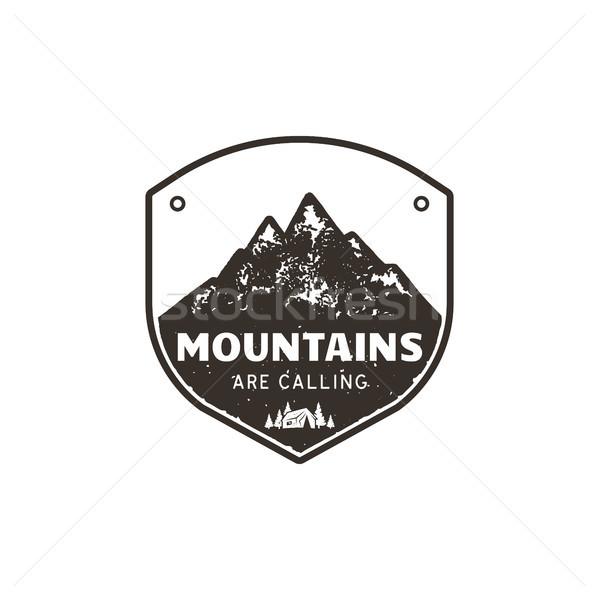 Vintage montagna emblema outdoor Foto d'archivio © JeksonGraphics