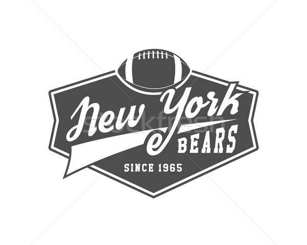 Amerikaanse voetbal universiteit kampioenschap badge logo Stockfoto © JeksonGraphics