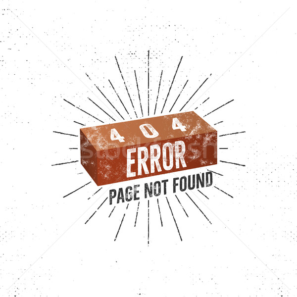 404 error page with brick. Vector concept of 404 error page. Illustration for page 404 error. Page n Stock photo © JeksonGraphics