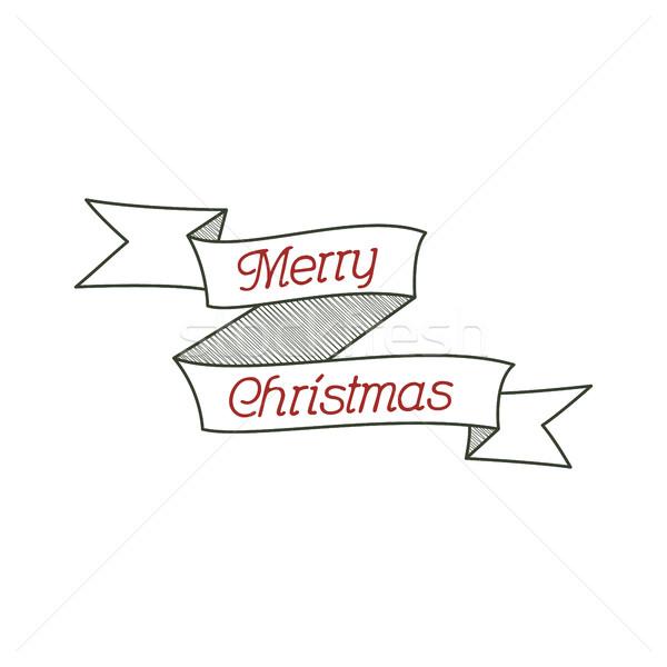 Boldog karácsony tipográfia kívánság felirat kalligráfia Stock fotó © JeksonGraphics
