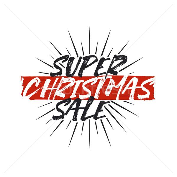 スーパー クリスマス 販売 タイポグラフィ 要素 休日 ストックフォト © JeksonGraphics