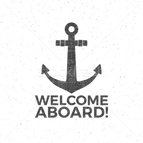 Projeto marinheiro emblema âncora etiqueta Foto stock © JeksonGraphics