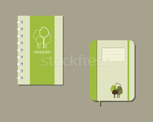 Corporate identity template design  for natural and organic shop products. Green and eco company. Cl Stock photo © JeksonGraphics