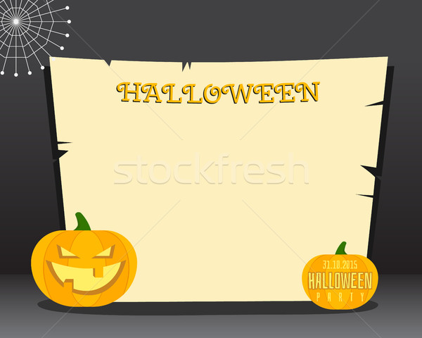 Хэллоуин место текста счастливым Flyer карт Сток-фото © JeksonGraphics