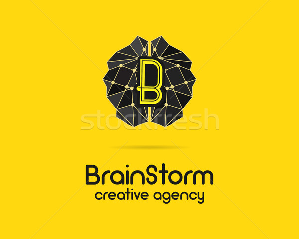 Brainstorm logotype, brain, creation idea logo template and elements. Solve problems, idea creation  Stock photo © JeksonGraphics