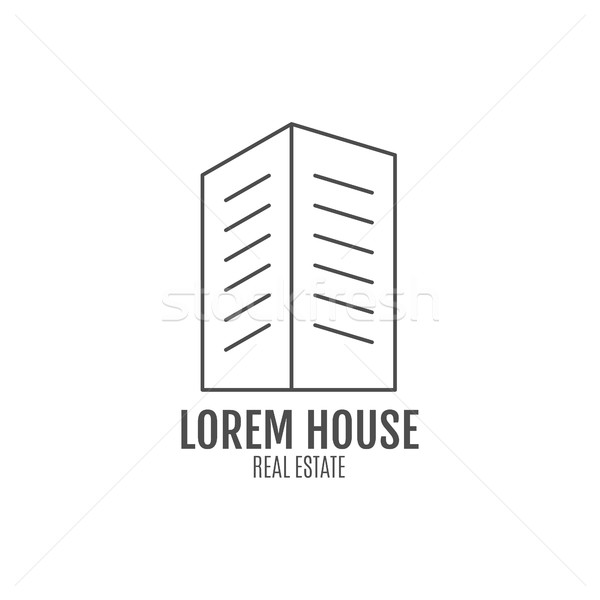 Vector real estate logo design, modern house icon suitable for info graphics, websites and print med Stock photo © JeksonGraphics