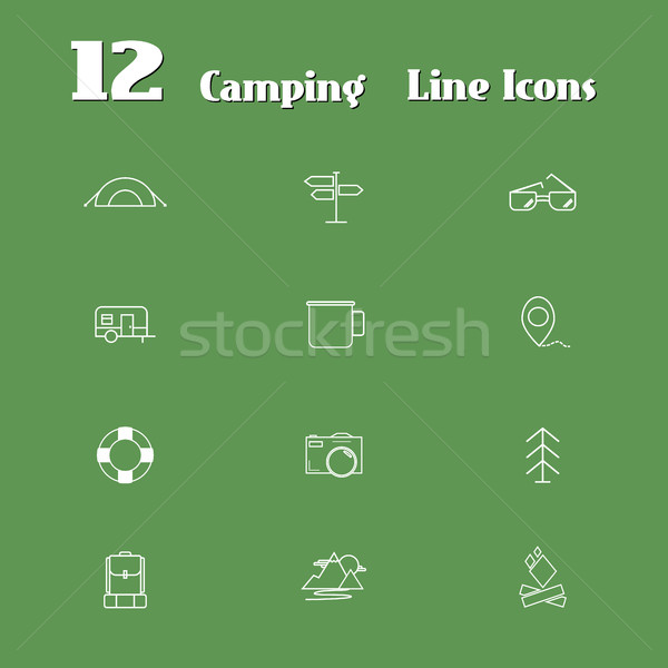 Travel Line Icons for Web and Mobile. Minimalistic design. Light version. Stock photo © JeksonGraphics