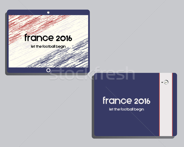 корпоративного личности шаблон дизайна Франция 2016 Сток-фото © JeksonGraphics