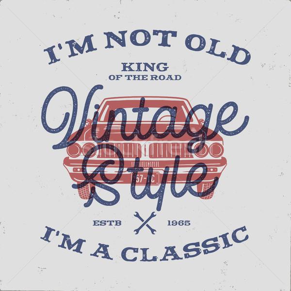 Aniversário aniversário dom tshirt não velho Foto stock © JeksonGraphics