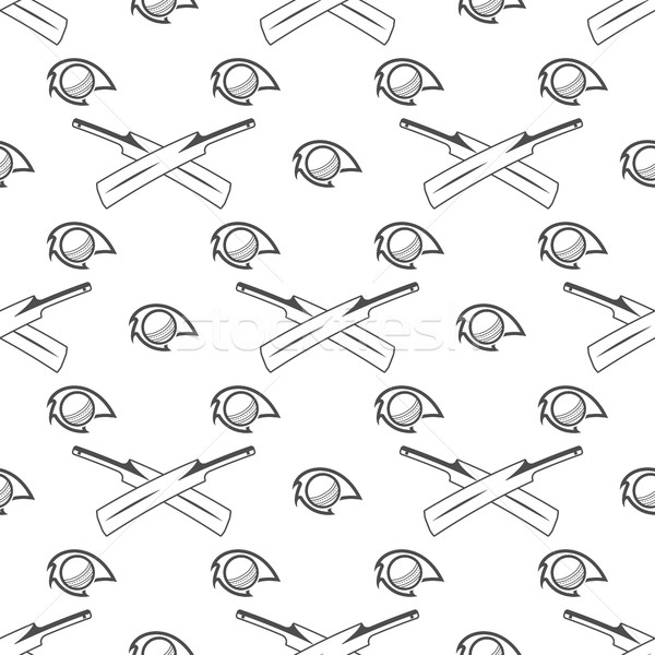 クリケット スポーツ パターン レトロな シームレス ストックフォト © JeksonGraphics
