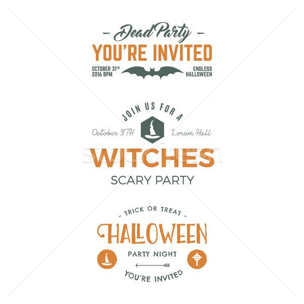Halloween 2016 label sjablonen vakantie Stockfoto © JeksonGraphics
