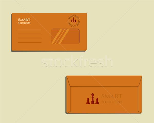 Marca identità modello busta fronte indietro Foto d'archivio © JeksonGraphics