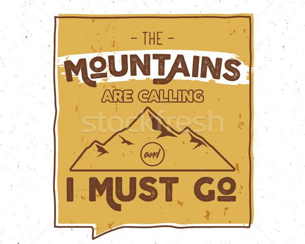 Açık ilham motivasyon dağ broşür aktarmak Stok fotoğraf © JeksonGraphics