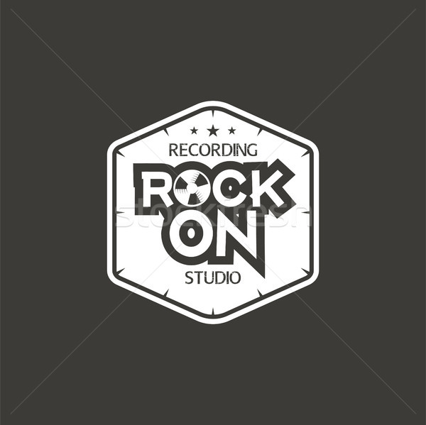 Rock vector label badge embleem Stockfoto © JeksonGraphics