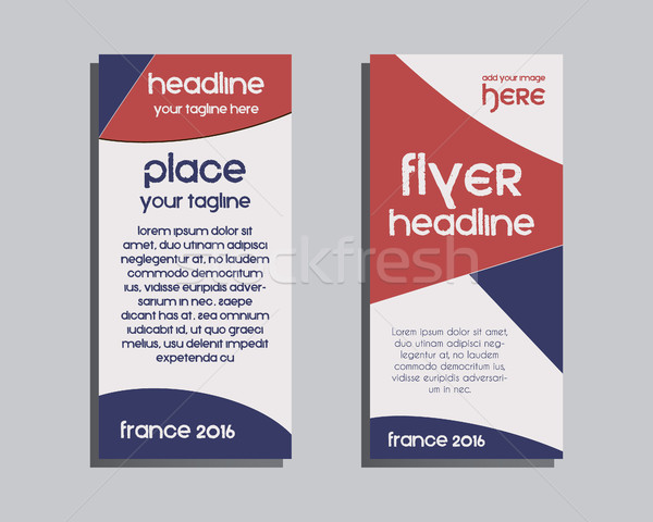 France 2016 Football Brochure Flyer design Layout template. Triangle abstract style. The national co Stock photo © JeksonGraphics