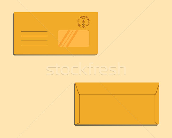 Happy Fathers Day envelope template with tie elements Best for thematic party. Isolated on bright ba Stock photo © JeksonGraphics