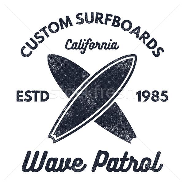 Klasszikus szörfözik terv retro póló grafika Stock fotó © JeksonGraphics