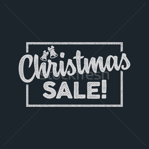 Christmas sale lettering and typography elements. Holiday Online shopping type quote. Stock illustra Stock photo © JeksonGraphics