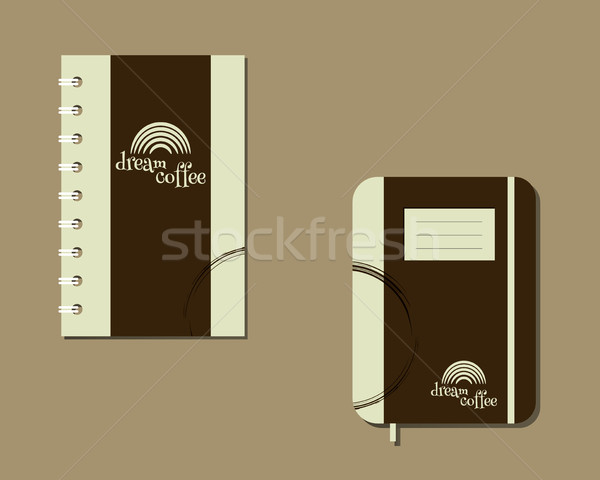 Corporate identity template design For cafe, restaurant and other food business. With Green coffee l Stock photo © JeksonGraphics