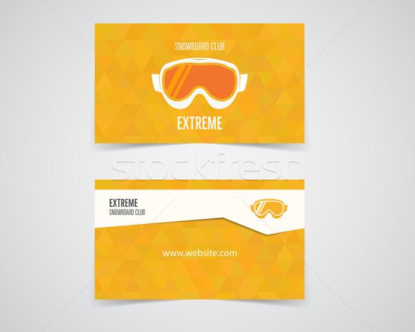 Snowboard tarjeta de visita naranja paleta buena Foto stock © JeksonGraphics
