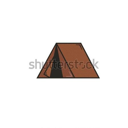 Tente icône stock vecteur pictogramme illustration Photo stock © JeksonGraphics