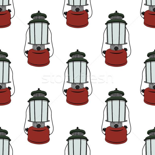 Campamento linterna primavera luz fondo Foto stock © JeksonGraphics