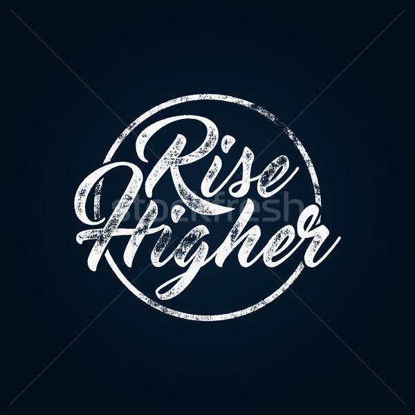 Inspiráló kréta tipográfia idézet poszter motiváció Stock fotó © JeksonGraphics