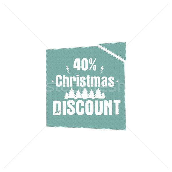 Zdjęcia stock: Christmas · nowy · rok · sprzedaży · etykiety · tag · zimą