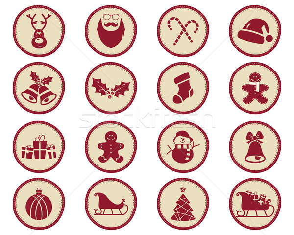 Stockfoto: Christmas · winter · badges · ontwerp · communie · vakantie