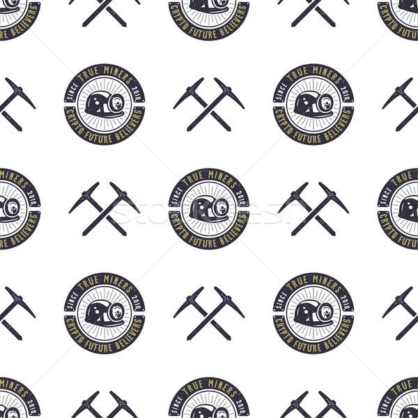 Minière bitcoin wallpaper numérique Photo stock © JeksonGraphics
