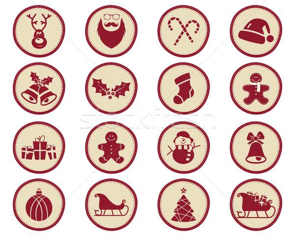 Foto stock: Navidad · invierno · insignias · diseno · elementos · vacaciones