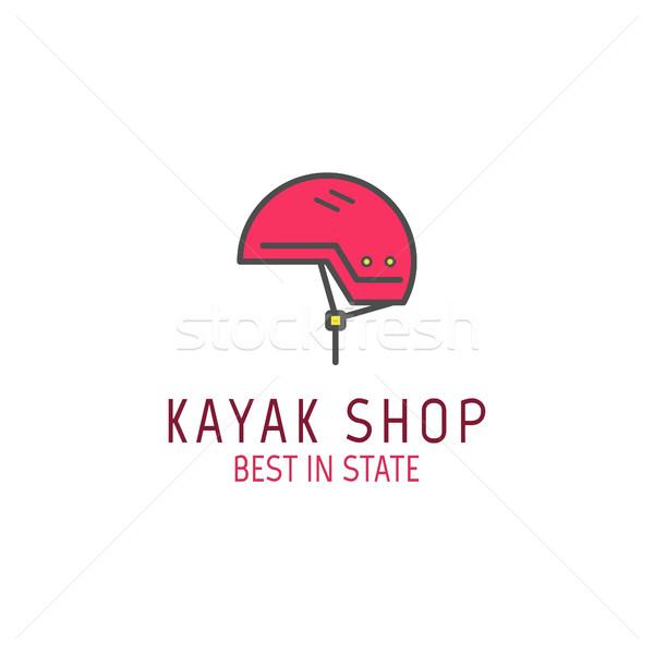 Cute minimalny kajak sklep ikona logo Zdjęcia stock © JeksonGraphics