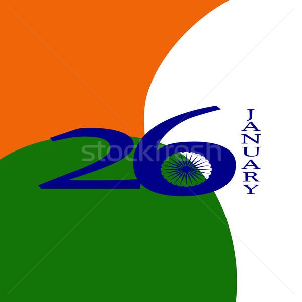 エレガントな インド フラグ 幸せ 共和国 日 ストックフォト © JeksonGraphics
