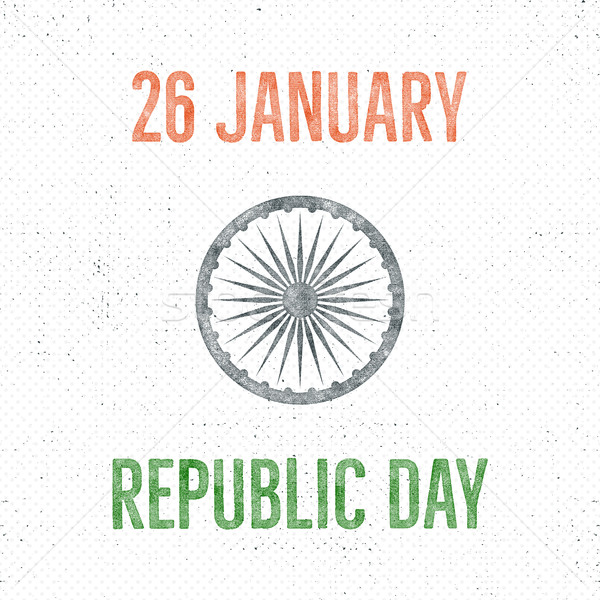India republic day vintage label template. Retro typography concept. Vector illustration Stock photo © JeksonGraphics