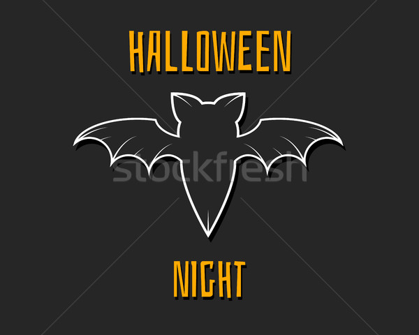Stylish unique bat. Happy Halloween night card. Background, poster and banner. Flat design for celeb Stock photo © JeksonGraphics