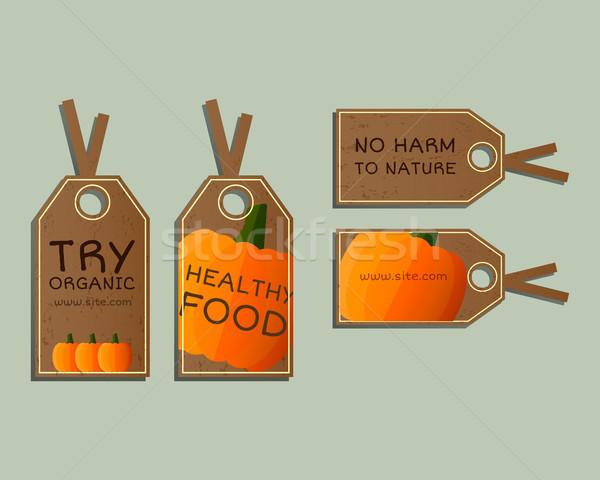 Farm fresche badge modelli Foto d'archivio © JeksonGraphics