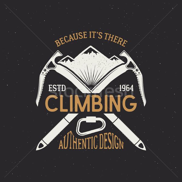 登山 クラブ エンブレム デザイン ヴィンテージ 色 ストックフォト © JeksonGraphics