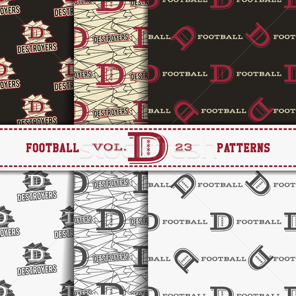 Set of american football patterns. Usa sports seamless background collection. Sport wallpaper with l Stock photo © JeksonGraphics