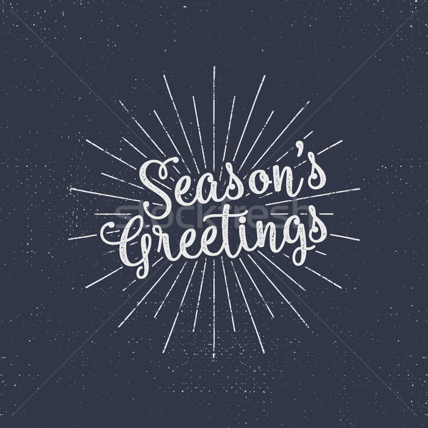Merry Christmas lettering. Season's greetings. Holiday typography vector. Letters composition with s Stock photo © JeksonGraphics