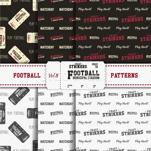 Set of american football patterns. Usa sports seamless background collection. Sport wallpaper with t Stock photo © JeksonGraphics