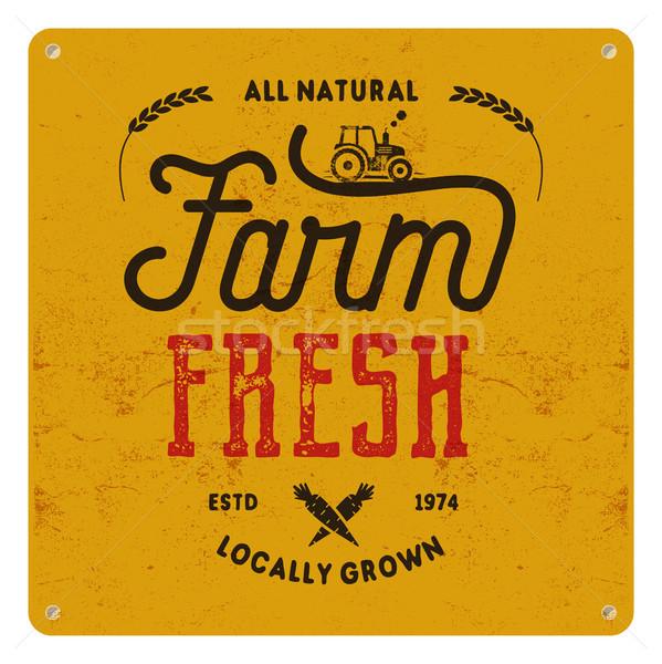 Farm friss öko étel poszter összes Stock fotó © JeksonGraphics