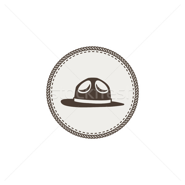 scout hat sticker, icon. Vintage hand drawn adventure patch design. Stock vector illustration isolat Stock photo © JeksonGraphics