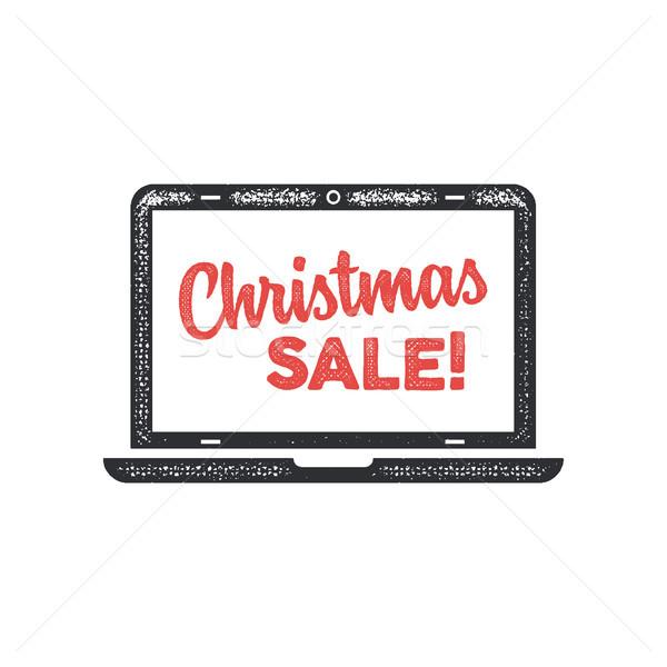 クリスマス 販売 タイポグラフィ 要素 ノートパソコン 画面 ストックフォト © JeksonGraphics